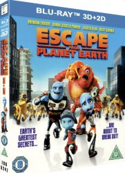 escape from planet earth 3d bluray