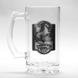 Lord of the Rings Prancing Pony glass stein