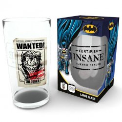 DC Comics Batman The Joker Insane pint glass