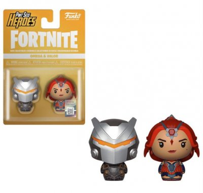 3 figures Pint Size Fortnite Omega & Valor