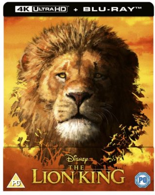 The Lion King (2019) - 4K Ultra HD Steelbook (Includes Blu-ray) import med svensk text